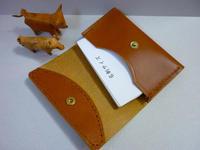 名刺入れ:ホック式は少数派か! - 手縫い革小物 paddy の作品箱
