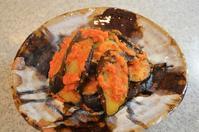 茄子のトマトソースがらめ/サラダ/ほうれん草のお浸し/ほうれん草の卵とじ - まほろば日記