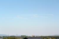 ブルーインパルス 熊本上空展示飛行 - お手軽天体写真