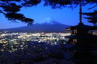 29年4月の富士(25) 忠霊塔の富士  - 富士への散歩道 ~撮影記~