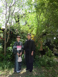 落ちついたお着物とピンクの帯と。 - 京都嵐山 着物レンタル&着付け「遊月」