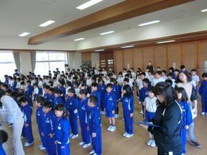 全校朝会・身体計測 - 鮎貝小公式ブログ