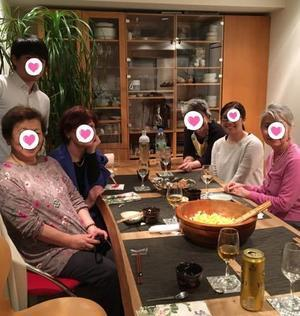 六本木のマダムS宅でのディナー - やさしい光のなかで