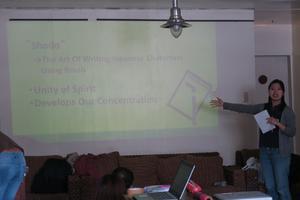 書道ワークショップが開催されました - バギオの北ルソン日本人会 JANL