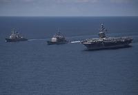 空母カールビンソン 日本海へ向け航行中 - ■□ほーどー飛行機□■Aerial news gathering