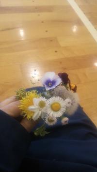 花束をもらいました - ミネキク はんこノート