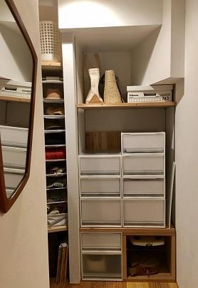 奇跡のシンデレラフィット!IKEAの棚と無印のポリプロピレンケースでクローゼットの引き出し収納完成! - 10年後も好きな家