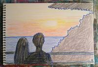 Day6 夕日カフェ - たなかきょおこ-旅する絵描きの絵日記/Kyoko Tanaka Illustrated Diary