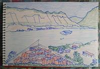 Day7 コトルがすっかり気に入る - たなかきょおこ-旅する絵描きの絵日記/Kyoko Tanaka Illustrated Diary