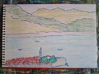 Day7 バドバでランチ - たなかきょおこ-旅する絵描きの絵日記/Kyoko Tanaka Illustrated Diary