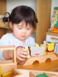 《2歳5ヶ月》積み木でお人形遊び - ゆりぽんフォト記