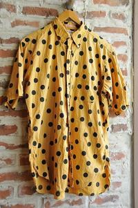 60s Short Sleeve B.D.Shirts dot print - 仙台古着屋shack-a-luck (シャカラック)