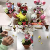 樹脂粘土講座 ミニ鉢植え - みんなのパソコン&カルチャー教室 北野田校