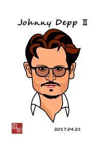 ジョニー・デップを描きました。#2(A023) - 楽しいね。似顔絵は… ヒロアキの作品館