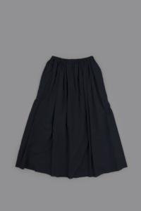 ゴーシュ Light Khadi Gather Skirt (Navy) - un.regard.moderne
