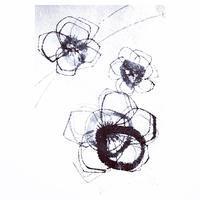 土佐麻紙に墨で描いて書いてみましたが。 - 書家KORINの墨遊びな日々ー書いたり描いたり
