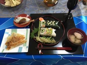 残り少ないこいのぼりのお寿司のレッスン - クッキングアトリエ