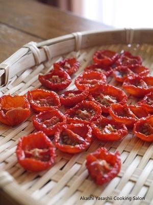 春の日射しでセミドライトマト作り - ーAkashi Yasashii Cooking Salonー料理教室/明石/兵庫/関西