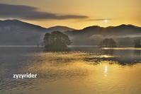 太陽が湖面に - ジージーライダーの自然彩彩