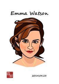 エマ・ワトソンを描きました。#2(C024) - 楽しいね。似顔絵は… ヒロアキの作品館