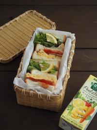 ベーコンエッグとチーズレタスのトーストサンド弁当 - Delicatusib