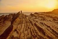春の夕陽の海 1 - 天野主税写遊館