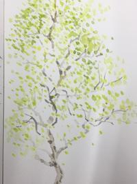 新緑。 - 『一日一畫』 日本画家池上紘子