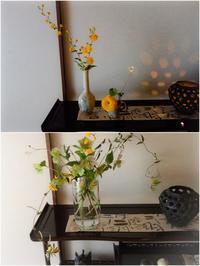 4月の花あしらい - 糸巻きパレットガーデン
