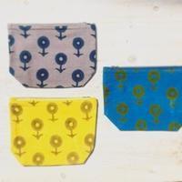 ブロックプリントポーチ~dandelion - 雑貨店PiPPi