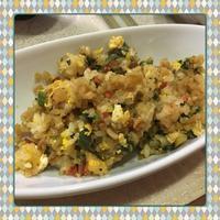 葉玉ねぎとカラーピーマンのチャーハン - kajuの■今日のお料理・簡単レシピ■