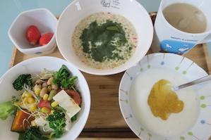 <朝食>フルグラ <昼食>助六寿司 <夕食>エビフライ - さとごころ