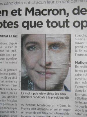 Ni MACRON, Ni LE PEN、ニィ・マクロン、ニィ・ル・ペン、マクロンに投票しない・ル・ペンに投票しない、Le Vote Blanc、白紙投票でレジステ・抵抗する・・・ - 波多野均つれづれアート・パート2