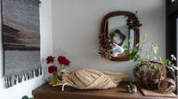 籠編み教室 4月 2 - 古布や麻の葉