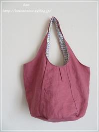 手作り *リネンの丸底春色バッグ*仕上がりました♪** - &m 手作りのキロク。。