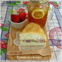 まるでケーキな☆オムレツサンド - パンのちケーキ時々わんこ