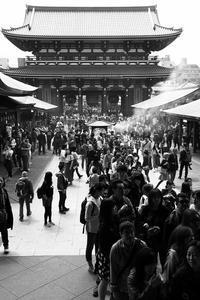 浅草寺から裏浅草にかけて、街撮り、お写ん歩。でも今日の写真はモノクロにしてみました。 - 旅プラスの日記