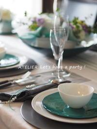 「4月のテーブルコーディネート&おもてなし料理レッスン」終了しました♪ - ATELIER Let's have a party ! (アトリエレッツハブアパーティー)         テーブルコーディネート&おもてなし料理教室