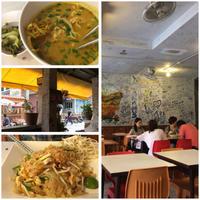 タイの安い食堂にてパッタイとカオソーイ - bluecheese in Hakuba & NZ:白馬とNZでの暮らし