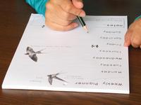 ツバメのウィークリープランナー 予定を書くのが楽しくなりそう! - ブルーベルの森-ブログ-英国カントリーサイドのライフスタイルをつたえる