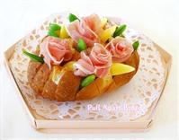 プルアパートブレッド☆生ハムの薔薇を添えて・・ - パンのちケーキ時々わんこ