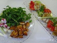 我家の食卓 蒸し鶏 - テヘランのアルバム