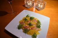 鯛と美生柑のカルパッチョ - まほろば日記