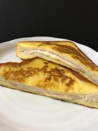 ハムチーズ入りフレンチトースト(モンティクリスト) - ぼっちオバサン食堂
