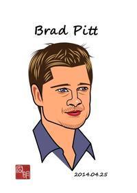 ブラッド・ピットを描きました。(C025) - 楽しいね。似顔絵は… ヒロアキの作品館