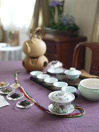 4月のおもてなしの中国茶レッスン - お茶をどうぞ♪