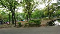 連休の公園は大にぎわい - 娘といっしょ