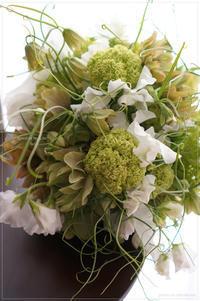 Bouquet raffiné en vert et blanc - * Spice of My Life *