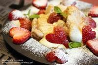 スパイス薬膳♪ハート苺のシナモン香るふわしゅわパンケーキ。(ハート苺の切り方付き) - 薬膳な酒肴ブログ~今宵も酔い宵。