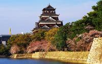 広島城の桜 - ノー天気