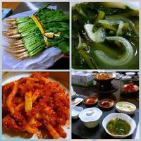 ヨルムムルキムチ(若大根の水キムチ)他 - キューニーの食卓
